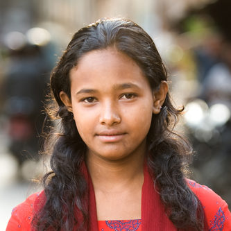 Young woman in Patan Durbar Square
